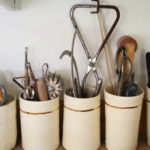 Emily Reinhardt ceramics with tools