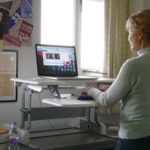 Freya's adjustable standing desk