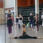 KCB II dancers warm up before rehearsal for Romeo & Juliet.