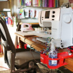 Tula Pink's limited edition rose-gold Bernina sewing machine.