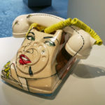 Ceramic telephone made by Shalene Valenzuela