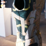 Ceramic dress form made by Shalene Valenzuela
