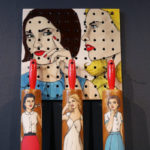 Ceramic rolling pin and pegboard made by Shalene Valenzuela