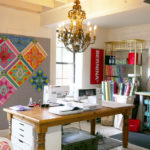 Tula Pink's sewing studio.