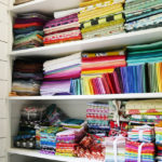 Tula Pink's fabric stash.