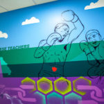 Phil Shafer's mural at the Plaza Academy in Kansas City. Photo by Caleb Sommerville via Sikestyle.com