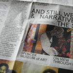 An ad for The Spencer Art Museum, which features one of Nedra's quilts.