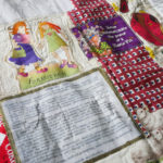 A detail of Nedra's quilt, Brownbackistan, detailing life in Kansas during Sam Brownback's term.