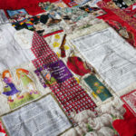 Nedra's quilt, Brownbackistan, details the political turmoil of Republican Kansas.