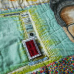 A three dimensional door to possibilities on Nedra's Rosa Parks quilt.