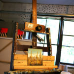 An in-progress painting sits on an easel in artist Seth Smith's studio.