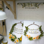Two floral wreaths are ready to be shipped.