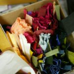 Crepe paper supplies in Grace D. Chin's studio.