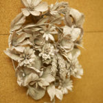 A paper floral sculpture by Grace D. Chin.