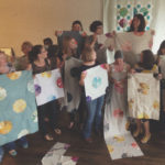 A group of quilting students at a Lizzy House Workshop. Photo by Lizzy House.
