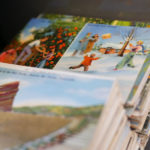 Luke's collection of vintage postcards.