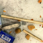 Glyneisha's collection of erasers sit next to her drawing pencils.