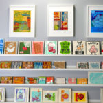 Two Tone's retail space sells both their designs, as well as letterpress designs by other artists.