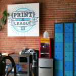 The Two Tone Press studio also houses Print League KC. Other printers can come in to use their equipment. They also host workshops.