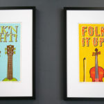 Two folk-inspired prints designed by Two Tone Press.