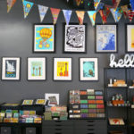 The retail space in the front of the Two Tone Press studio sells cards, prints and more.