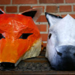 Paper mache' masks in the Two Tone Press studio.