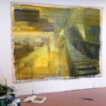 Painting-in-progress in Kathy Liao's studio.