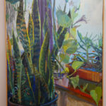 The final painting of a snake plant by Kathy Liao.