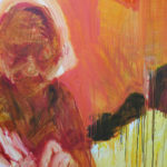Detail of Kathy Liao's painting of her grandmother.